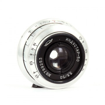 Индустар-50 (белый) 50mm/3,5 (М39)