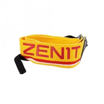Ремень для фотоаппарата желтый с надписью Зенит