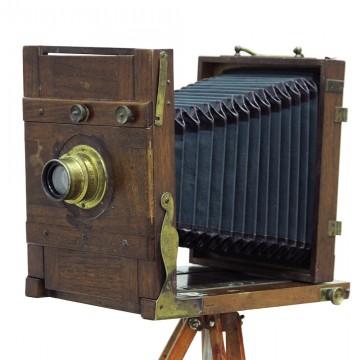 "Форматная складная камера 13х18 + G.Rodenstock München Doppel-Anastigmat ""Eurynar"" 180mm/6.8"